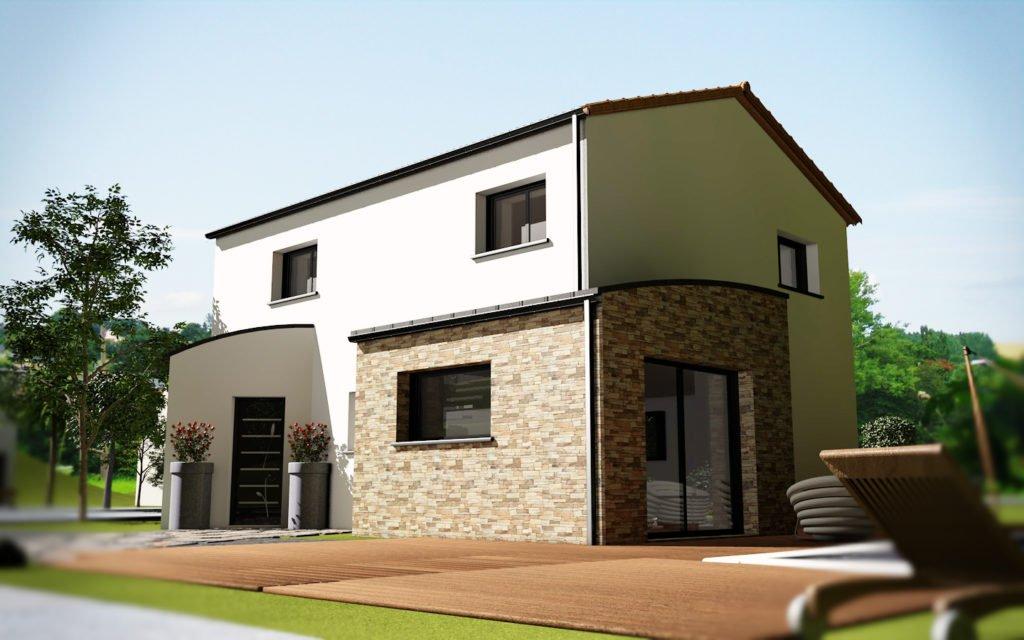 maison mod le chany tuile 4 chambres creactuel maison individuelle bretagne. Black Bedroom Furniture Sets. Home Design Ideas