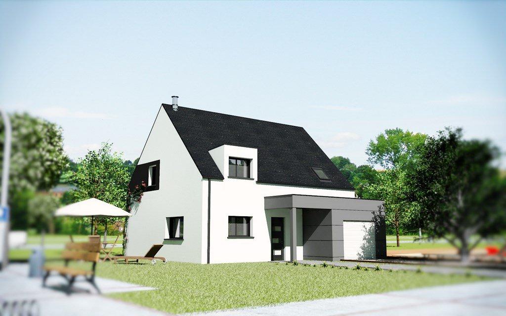maison mod le jessica 4 chambres creactuel maison. Black Bedroom Furniture Sets. Home Design Ideas