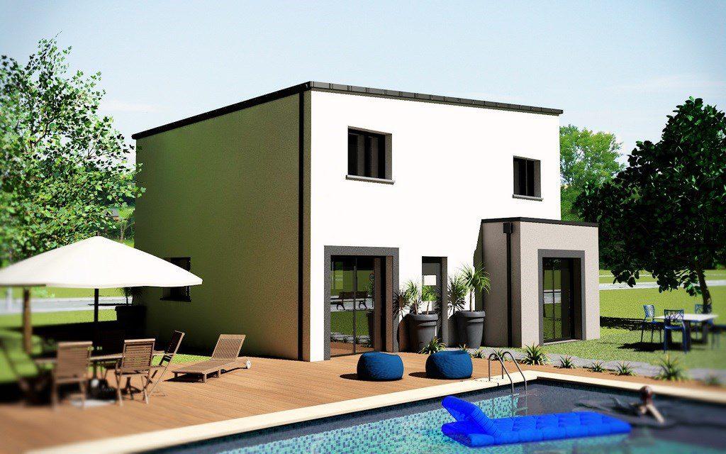 maison toit zinc cool maison toit zinc with maison toit zinc maison ossature bois albertville. Black Bedroom Furniture Sets. Home Design Ideas