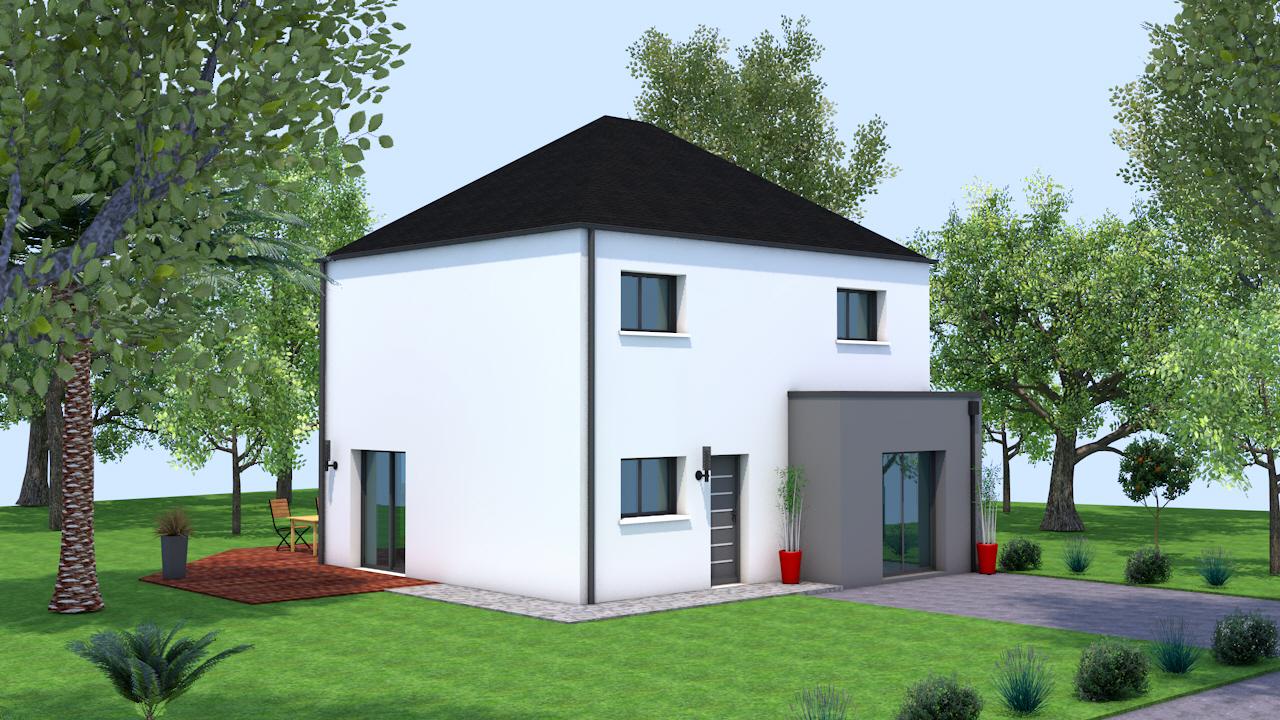 Maison modèle Laura 4 pans 103m² - 4 chambres, Creactuel Maison ...