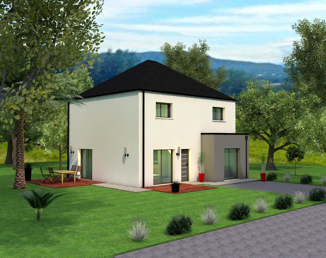 Maison modèle Laura 4 pans 123m² - 4 chambres, Creactuel Maison ...