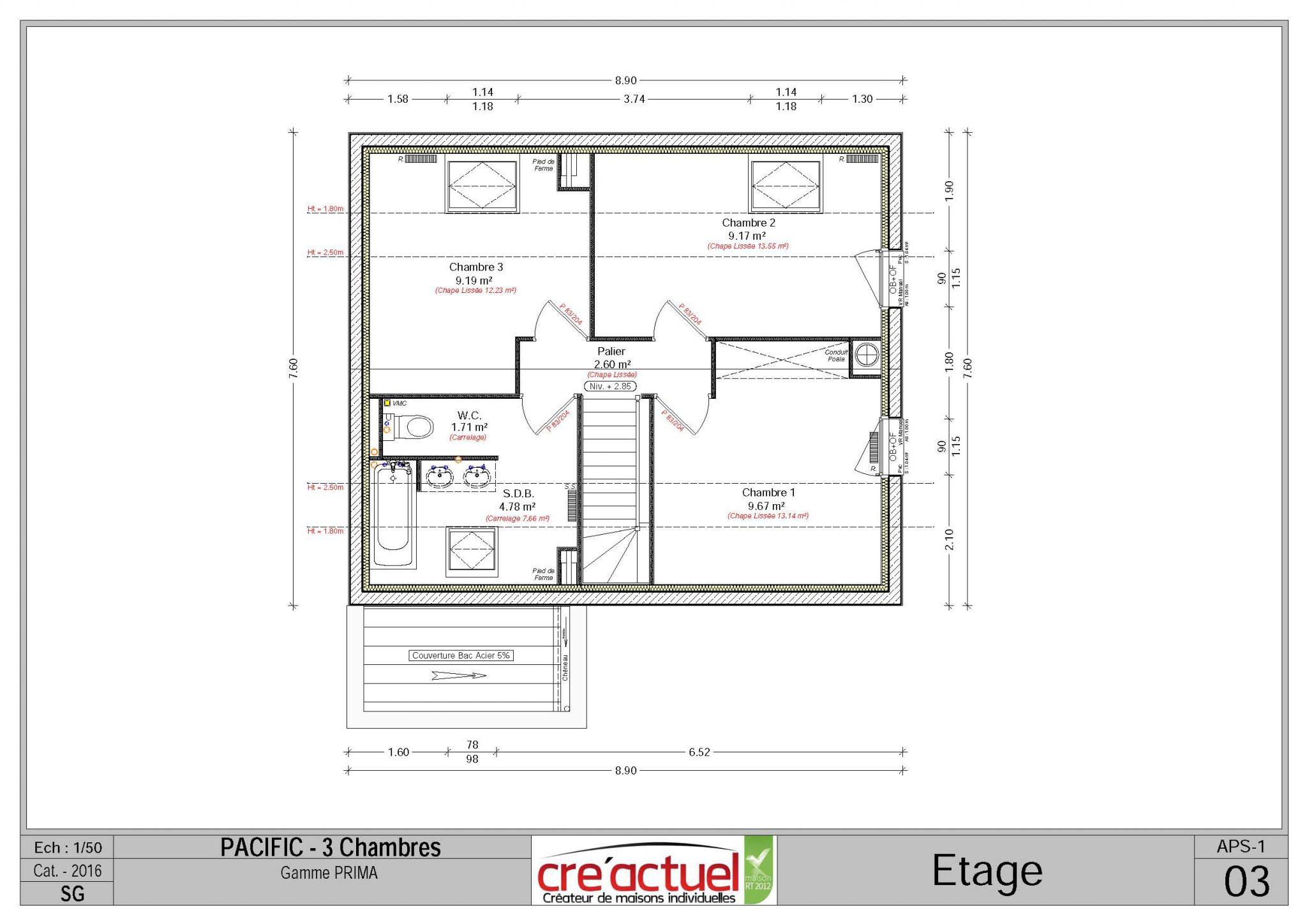 Impressionnant plan maison 6 chambres for Plan maison 6 chambres