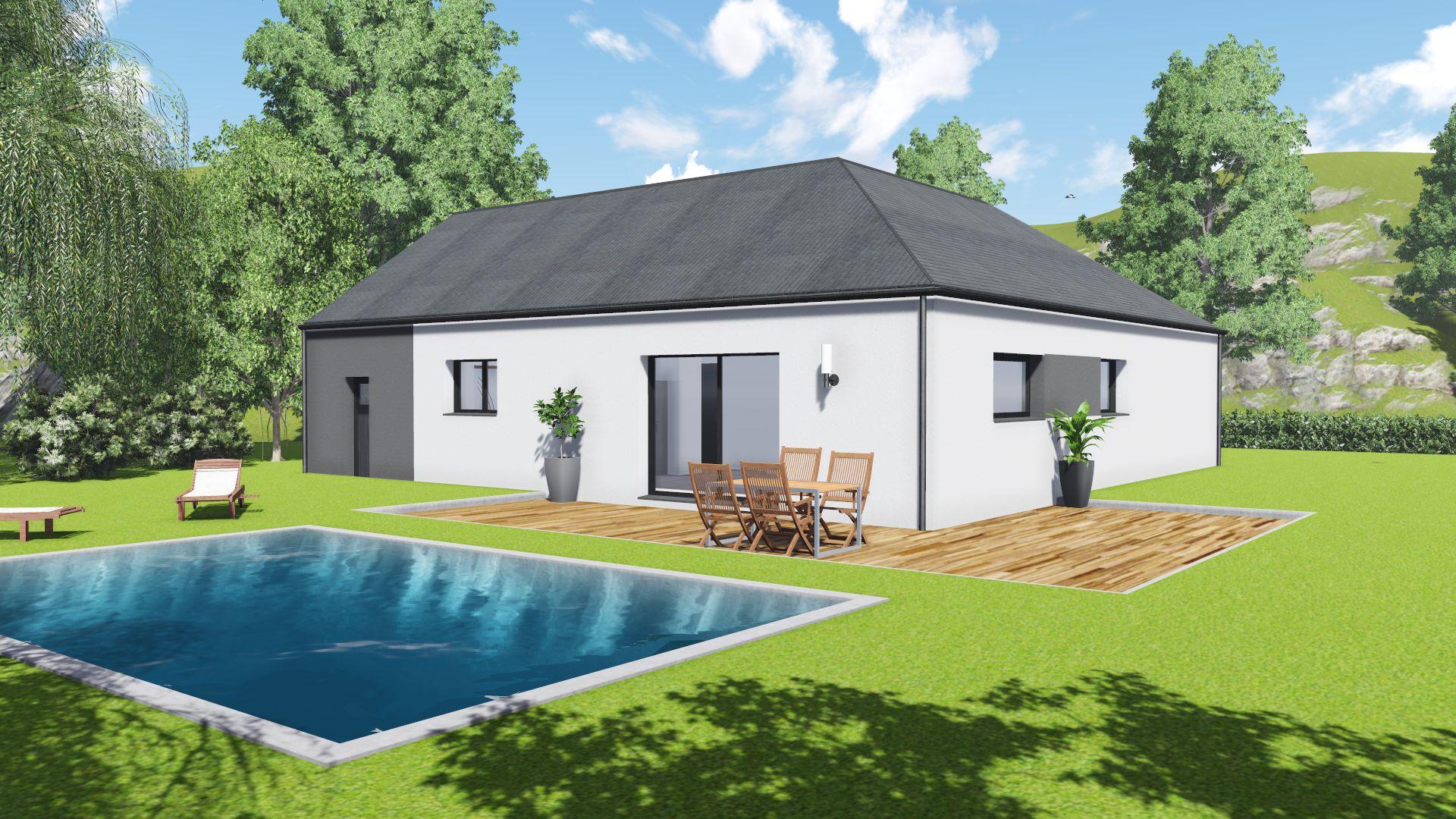 maison mod le belle ile 3 chambres garage creactuel. Black Bedroom Furniture Sets. Home Design Ideas