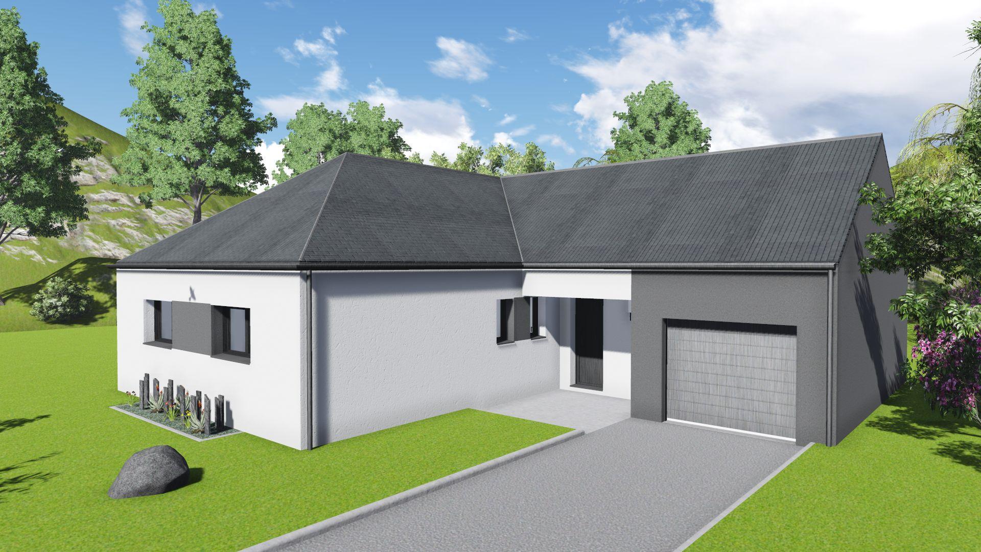 Maison neuve NOTRE DAME DES LANDES (44130) - Maison 91m2, 3 Ch ...