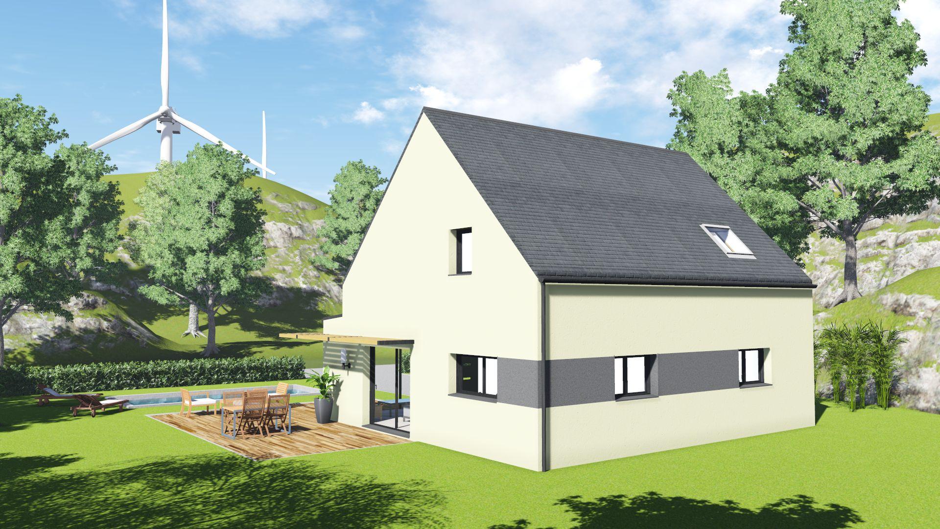 maison neuve st meloir des ondes 35350 maison 113m2 4 ch creactuel maison individuelle. Black Bedroom Furniture Sets. Home Design Ideas