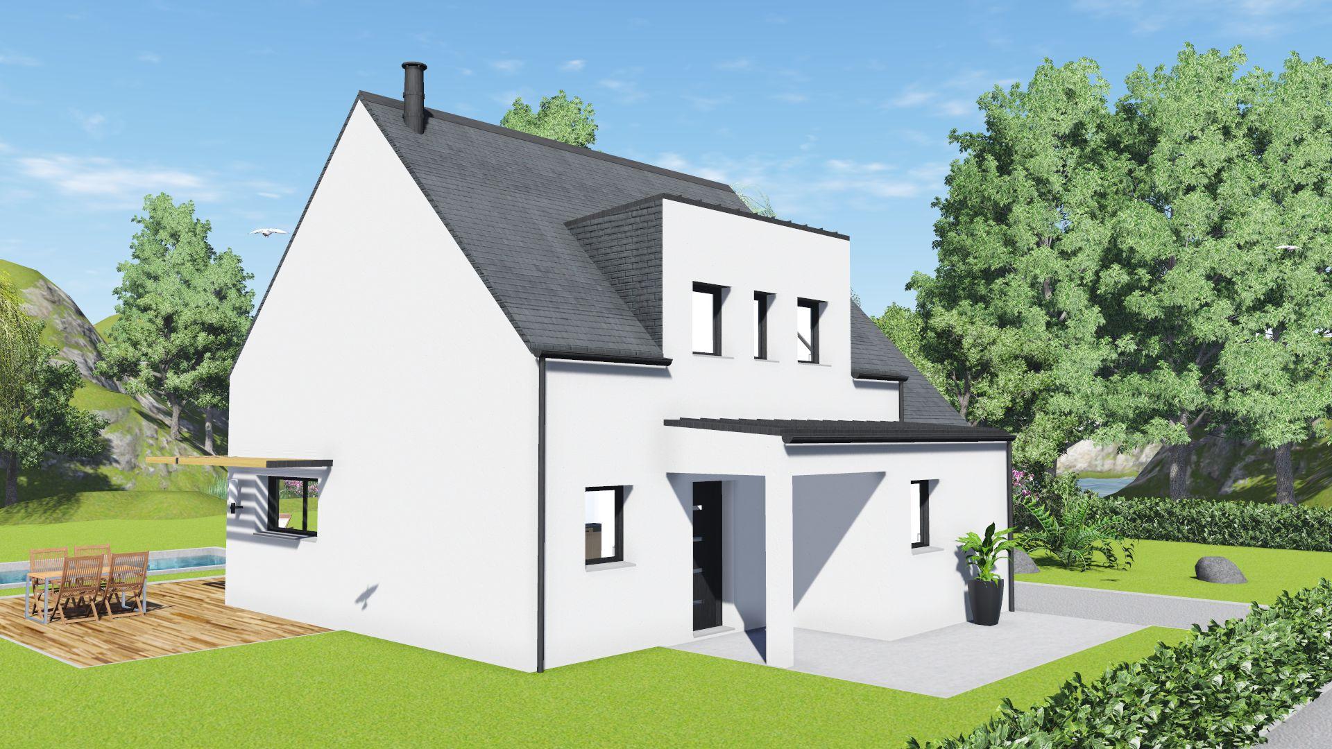 maison neuve st meloir des ondes 35350 maison 117m2 4 ch creactuel maison individuelle. Black Bedroom Furniture Sets. Home Design Ideas