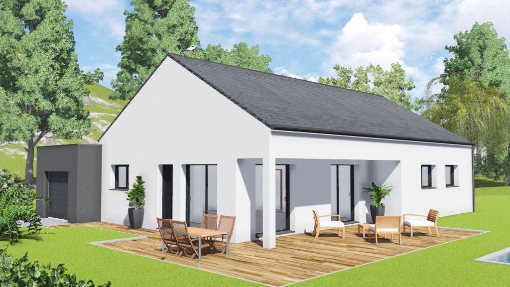 Maison neuve landeanse 35133 maison 102m2 3 ch for Simuler sa cuisine