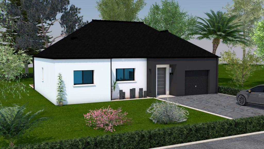 maison mod le id a toiture 4 pans 3 chambres creactuel. Black Bedroom Furniture Sets. Home Design Ideas