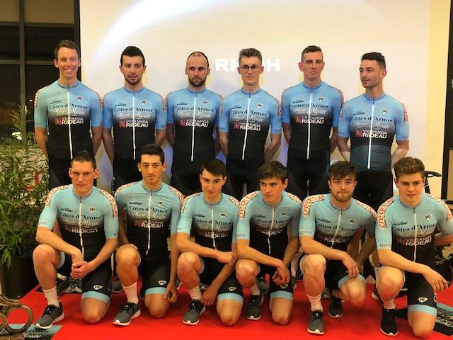 Cre'actuel partenaire de l'équipe de vélo Côtes d'Armor Marie Morin Véranda Rideau